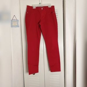 Red jeans (also selling these in blue) same size